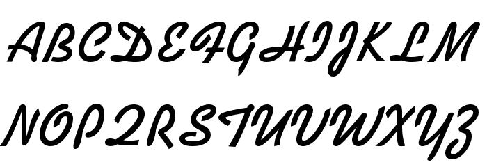 Kaufmann Bold BT Font UPPERCASE
