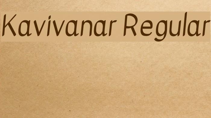 Kavivanar Regular फ़ॉन्ट examples