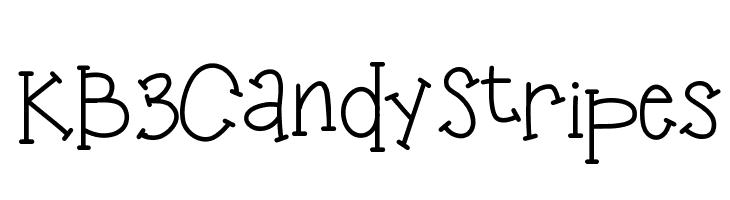 KB3CandyStripes  Free Fonts Download