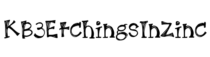 KB3EtchingsInZinc  Free Fonts Download