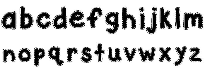 KBAStitchInTime 字体 小写
