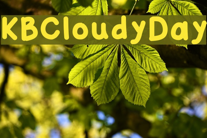 KBCloudyDay Шрифта examples