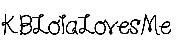 KBLolaLovesMe  Free Fonts Download
