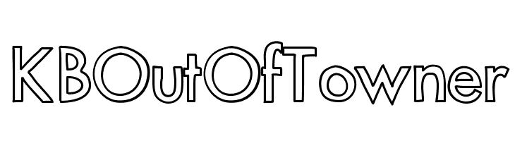 KBOutOfTowner  Frei Schriftart Herunterladen