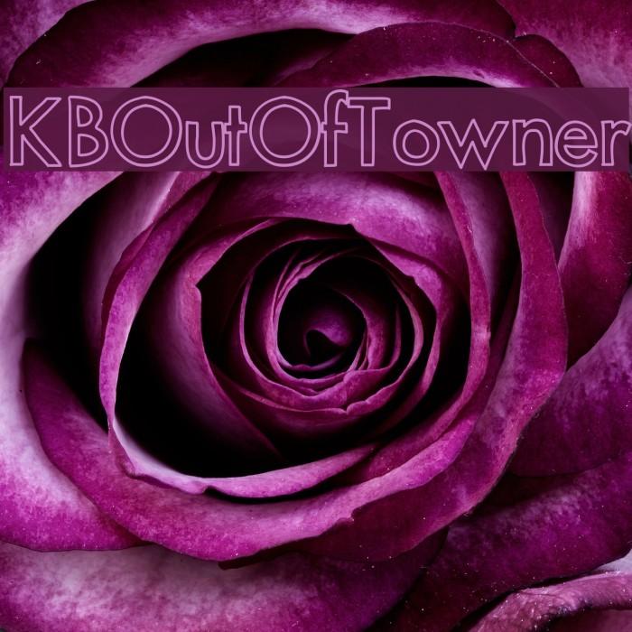 KBOutOfTowner फ़ॉन्ट examples