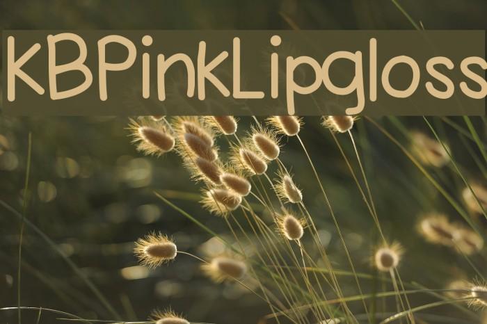 KBPinkLipgloss Fonte examples