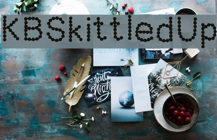 KBSkittledUp Font examples