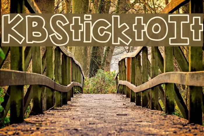 KBSticktoIt फ़ॉन्ट examples