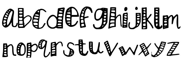 KBStripedPajamas Font LOWERCASE
