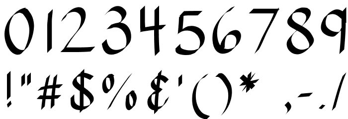 KBStylographic Шрифта ДРУГИЕ символов