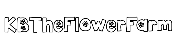 KBTheFlowerFarm  नि: शुल्क फ़ॉन्ट्स डाउनलोड