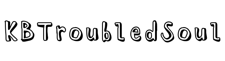 KBTroubledSoul  Free Fonts Download