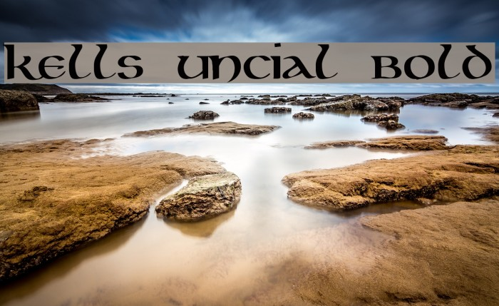 Kells Uncial Bold Fonte examples