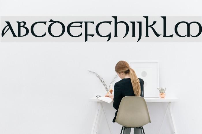 Kelt Bold Font examples