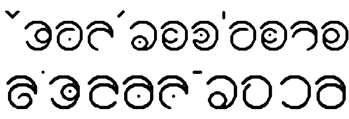 Keltic フォント 小文字