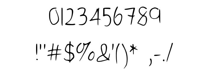 Kelvin's handwriting Medium Font OTHER CHARS