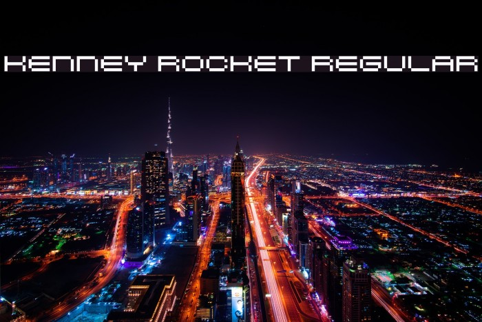 Kenney Rocket Regular لخطوط تنزيل examples
