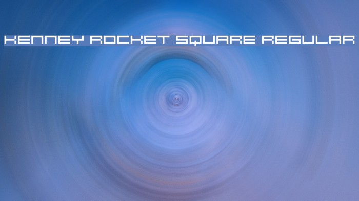 Kenney Rocket Square Regular Font examples