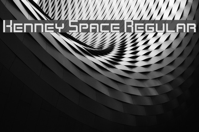 Kenney Space Regular Font examples