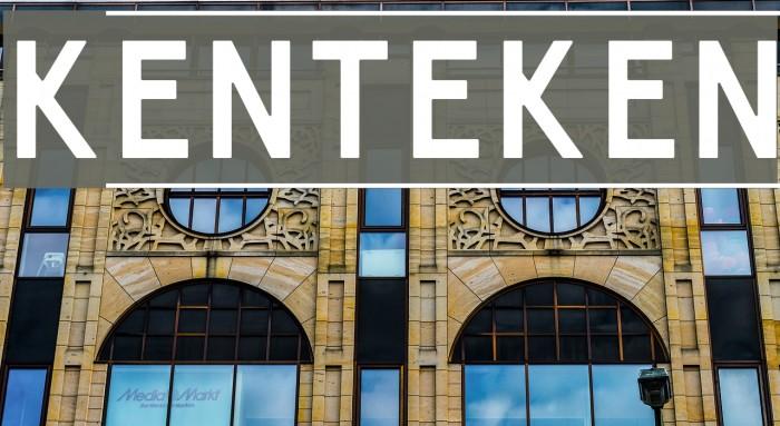 Kenteken Font examples