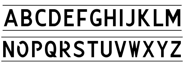 Kenteken Font LOWERCASE
