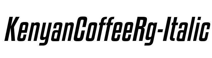KenyanCoffeeRg-Italic  baixar fontes gratis