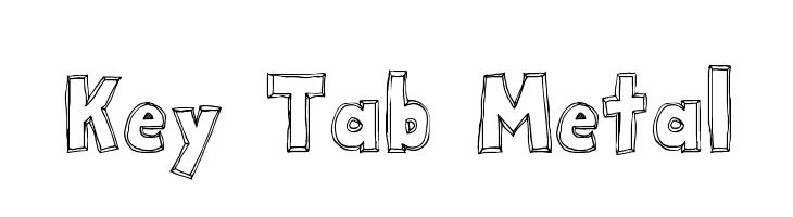 Key Tab Metal  नि: शुल्क फ़ॉन्ट्स डाउनलोड