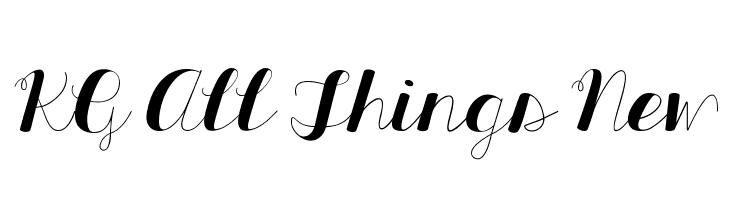 KG All Things New  Free Fonts Download