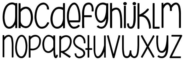 KG Beneath Your Beautiful Chunk Font LOWERCASE