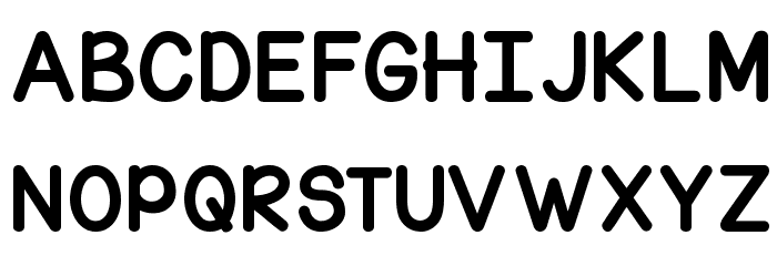 KG Corner of the Sky Font Litere mari