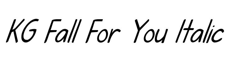 KG Fall For You Italic  baixar fontes gratis