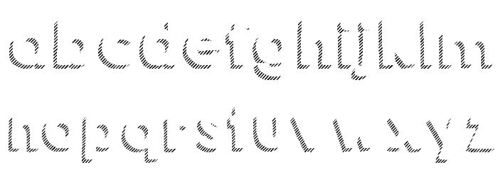 KG HAPPY Shadows Font Litere mici
