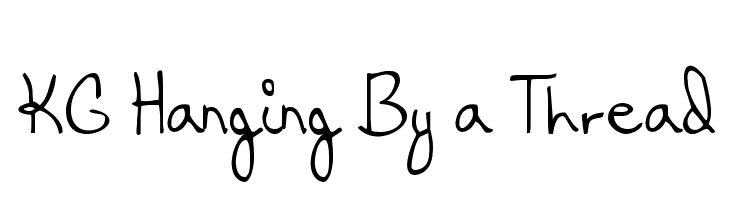 KG Hanging By a Thread  Free Fonts Download