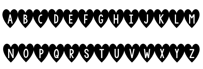 KG I And Love And You Font UPPERCASE