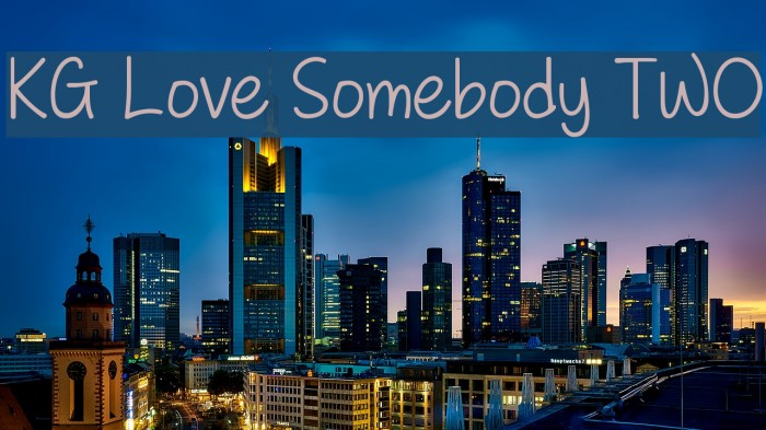 KG Love Somebody TWO Font examples