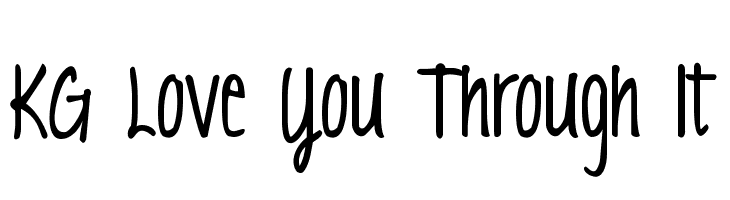 KG Love You Through It  Free Fonts Download