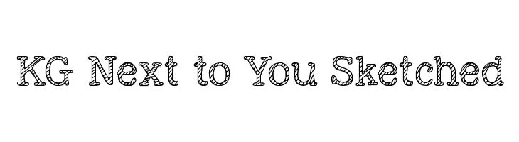 KG Next to You Sketched  baixar fontes gratis