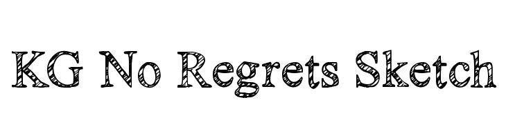 KG No Regrets Sketch  Frei Schriftart Herunterladen