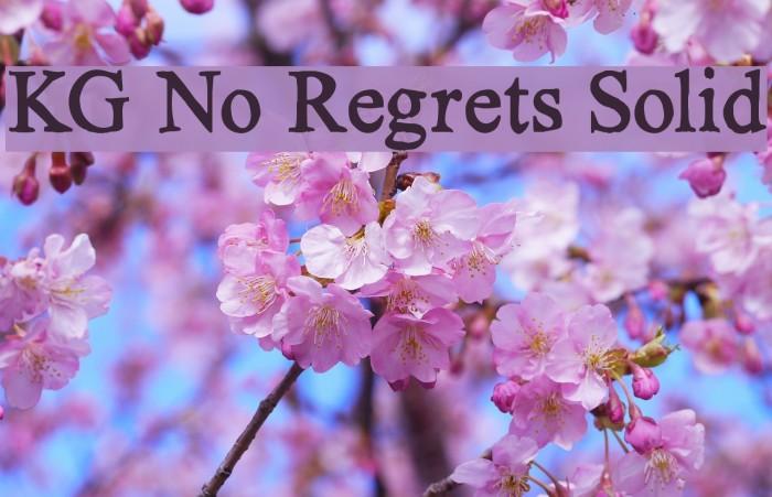 KG No Regrets Solid फ़ॉन्ट examples
