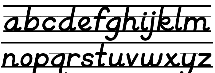 KG Primary Italics Lined Font LOWERCASE