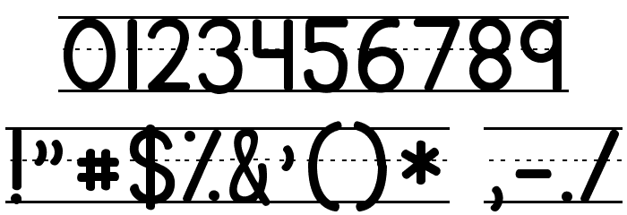 KG Primary Lined NOSPACE Font OTHER CHARS