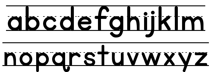 KG Primary Lined NOSPACE Font LOWERCASE