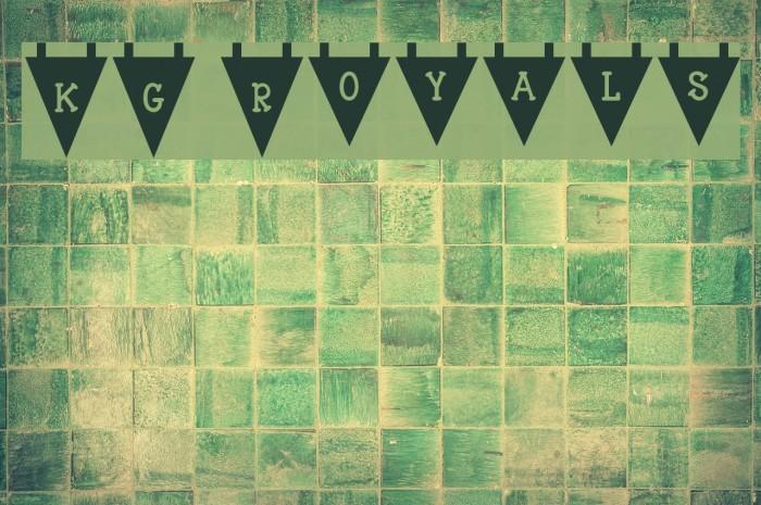 KG Royals Font examples