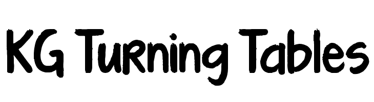 KG Turning Tables  Free Fonts Download