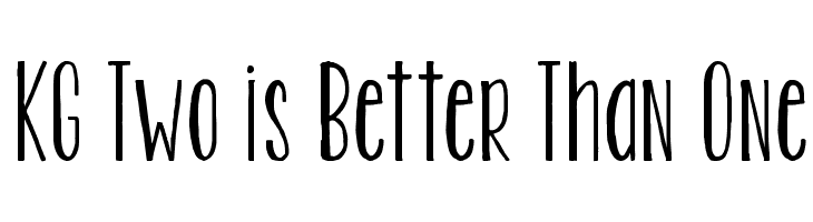KG Two is Better Than One  Free Fonts Download