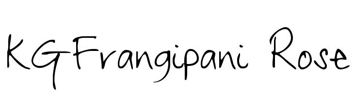 KGFrangipani Rose  Free Fonts Download