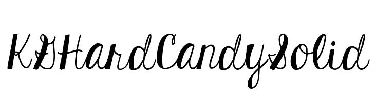 KGHardCandySolid  Descarca Fonturi Gratis