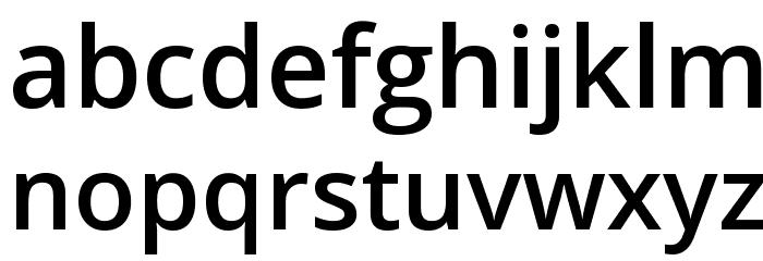 Khula SemiBold Font LOWERCASE