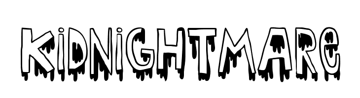 Kid nightmare  Free Fonts Download