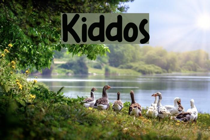 Kiddos Font examples